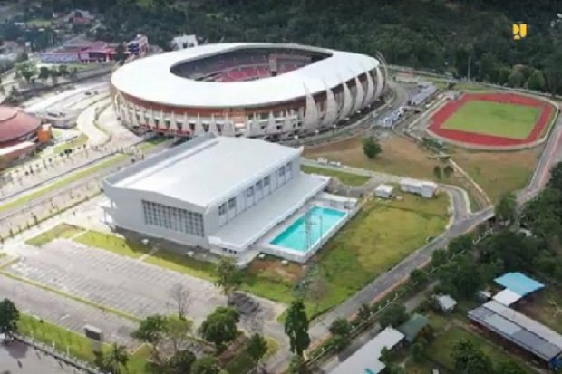 Pon, pon papua, jokowi, stadion canggih papua, istora papua bangkit, arena pertandingan pon papua