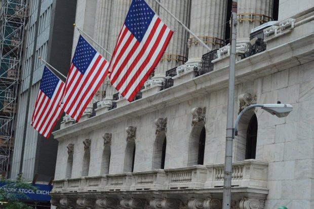 Wall Street, New York Stock Exchange, bendera Amerika