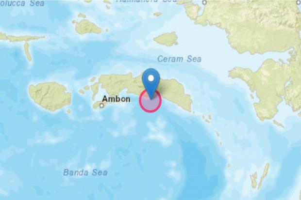 Gempa di Maluku Tengah pada Senin malam