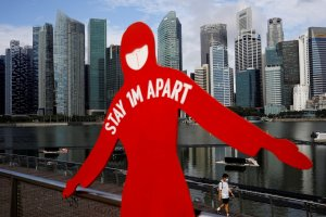 Ilustrasi Covid-19 Singapura