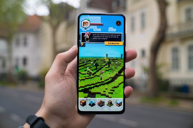 Tampilan Minecraft Pocket Edition, salah satu game offline di ponsel Android