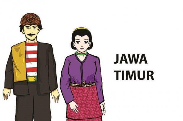 Pesa'an, Baju Adat Jawa Timur Bercorak merah Putih