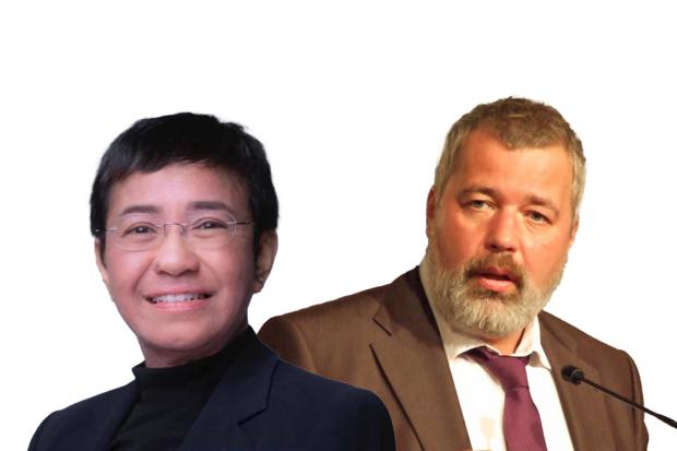 Pemenang Nobel Perdamaian 2021 Maria Ressa dan Dmitry Muratov
