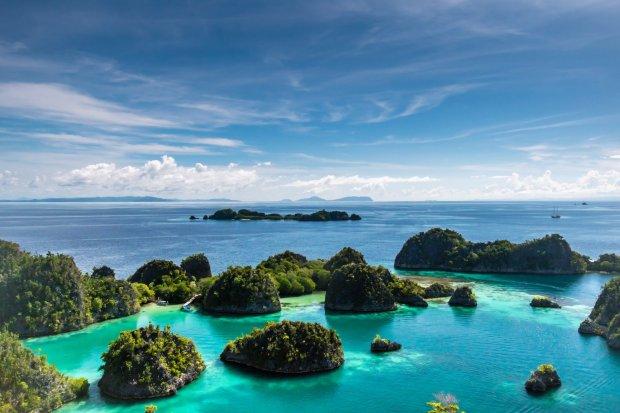 Pemandangan alam di Piaynemo Raja Ampat, Papua