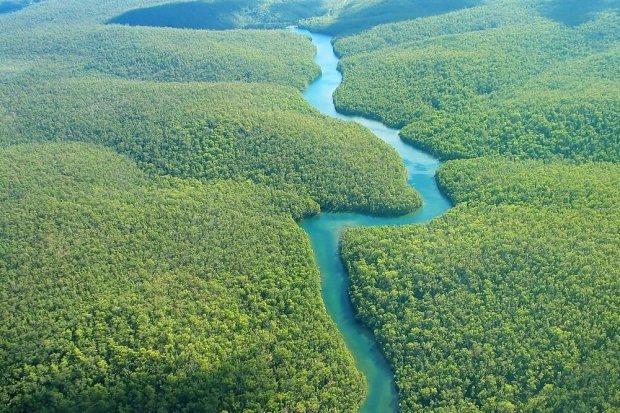 Sungai Amazon sebagai sungai terpanjang di Benua Amerika
