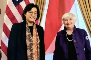 Menteri Keuangan Sri Mulyani dan Menteri Keuangan AS Janet Yellen
