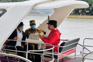 Jokowi di mangorve Kaltara