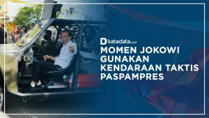 Jokowi Naik Kendaraan Taktis Paspampres